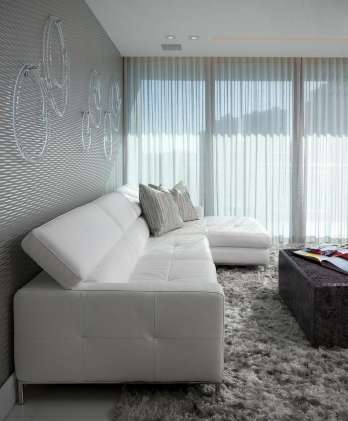 wandgestaltung ideen wohnideen wohnzimmer stilvolles wanddesign bequemes sofa