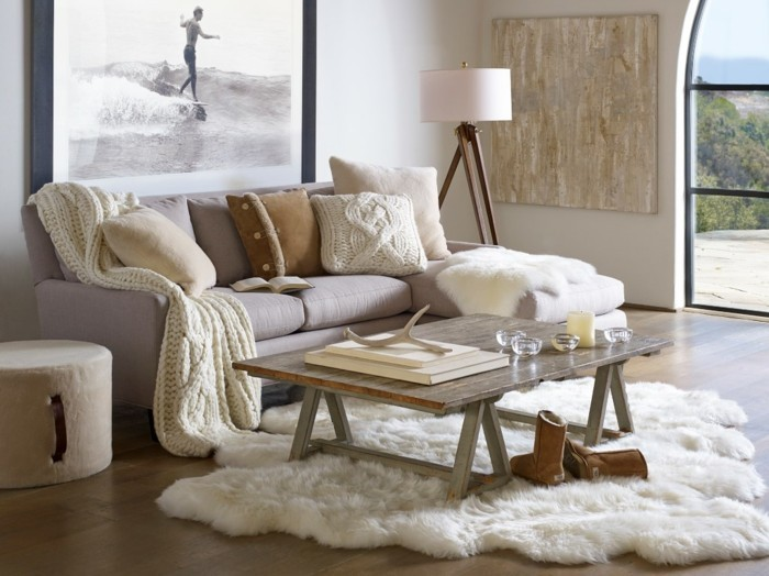 winrerdekoration kissenbezuege wohnzimmer ideen