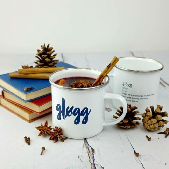 winterdekoration kaffee mit duft