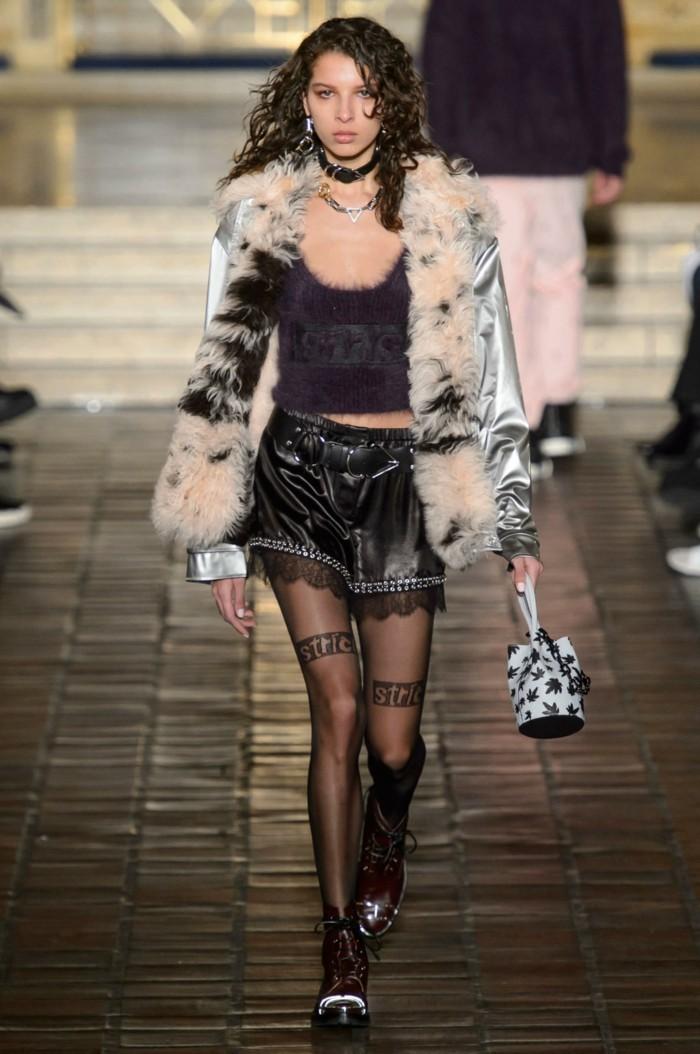 wintersaison trendige mode fell winterkollektion alexander wang