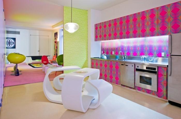 wohnideen küche farben kombinieren ausgefallene küchenmöbel