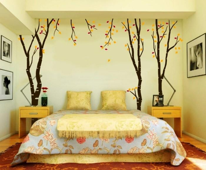 schlafzimmer ideen kleiner schlafbereich in gelbtönen