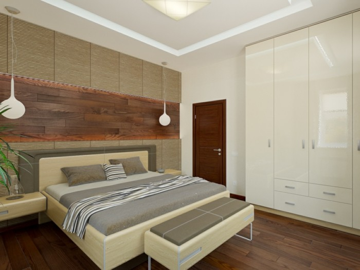 wohnideen schlafzimmerfrische wandgestaltung schlafzimmerbank