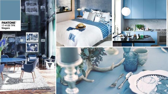 wohntrends 2017 pantone farbe niagara farbtrend wohnzimmer ideen kücheneinrichtung