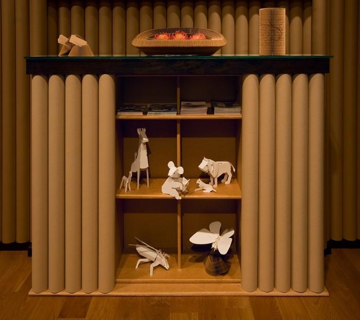 Raumgestaltung Ideen Basteln mit Papprollen DIY Ideen Deko Ideen Innendesigner lampe möbel aus pappe bettgestell42
