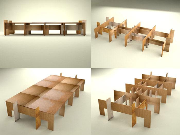 Raumgestaltung Ideen Basteln mit Papprollen DIY Ideen Deko Ideen Innendesigner lampe möbel aus pappe bettgestell
