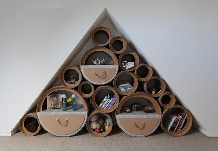 Ber kologische nachhaltigkeit basteln mit pappe und for Decorate your room with waste material