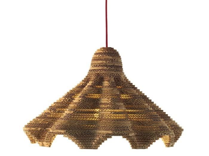 Raumgestaltung Ideen Basteln mit Papprollen DIY Ideen Deko Ideen Innendesigner lampe möbel aus pappe bettgestell39