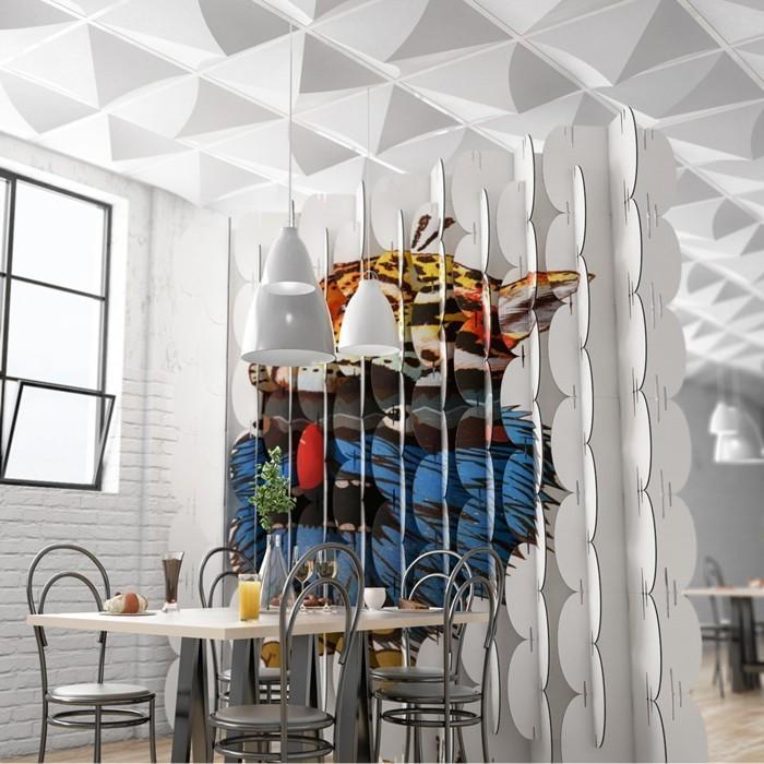 Raumgestaltung Ideen Basteln mit Papprollen DIY Ideen Deko Ideen Innendesigner lampe möbel aus pappe bettgestell43
