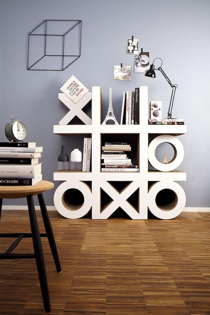 Raumgestaltung Ideen Basteln mit Papprollen DIY Ideen Deko Ideen Innendesigner lampe möbel aus pappe bettgestell48