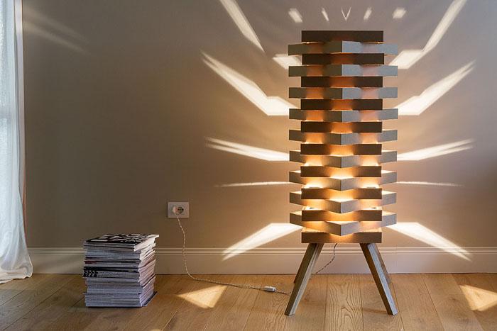 Raumgestaltung Ideen Basteln mit Papprollen DIY Ideen Deko Ideen Innendesigner lampe möbel aus pappe bettgestell54