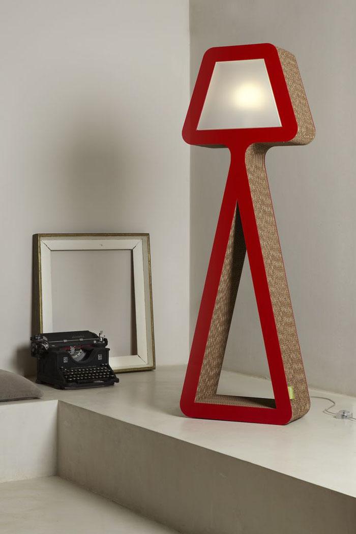 Raumgestaltung Ideen Basteln mit Papprollen DIY Ideen Deko Ideen Innendesigner lampe möbel aus pappe bettgestell59