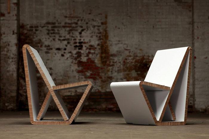 ber kologische nachhaltigkeit basteln mit pappe und kartonm bel 60 recycling ideen. Black Bedroom Furniture Sets. Home Design Ideas