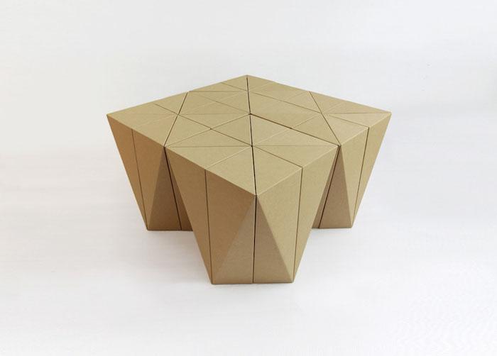 Raumgestaltung Ideen Basteln mit Papprollen DIY Ideen Deko Ideen Innendesigner lampe möbel aus pappe bettgestell61
