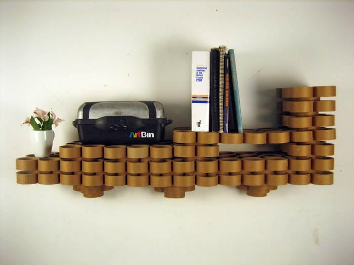 Raumgestaltung Ideen Basteln mit Papprollen DIY Ideen Deko Ideen Innendesigner möbel aus pappe recycling ideen24