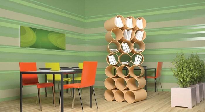 Raumgestaltung Ideen Basteln mit Papprollen DIY Ideen Deko Ideen Innendesigner16