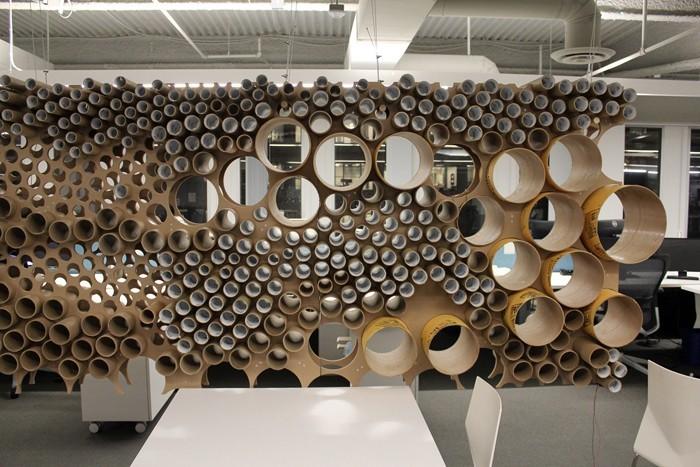 Raumgestaltung Ideen Basteln mit Papprollen DIY Ideen Deko Ideen Innendesigner möbel aus pappe recycling ideen8.jpg