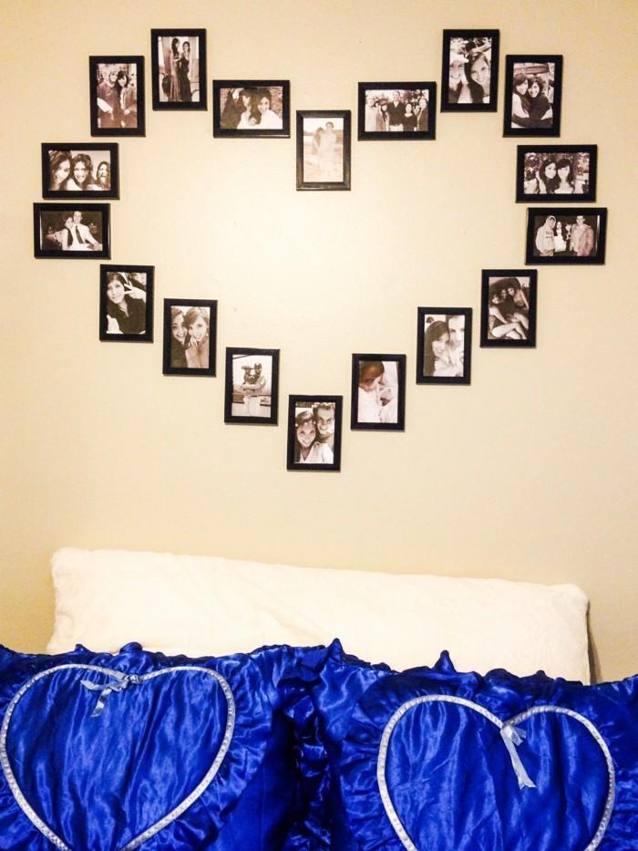 alles liebe zum valentinstag fotowand herz fotos schlafzimmer wanddeko