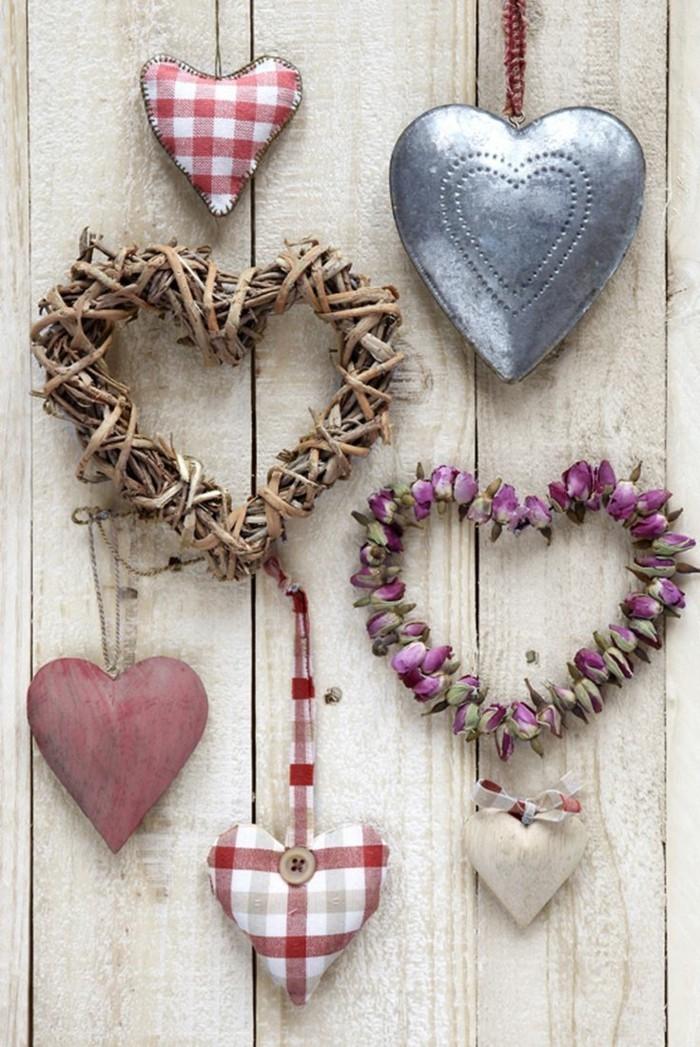 alles liebe zum valentinstag herzen wanddeko ideen