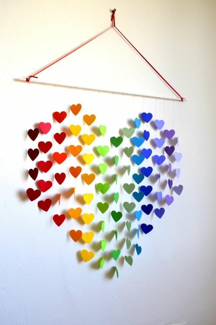alles liebe zum valentinstag papierherzen farbiges herz