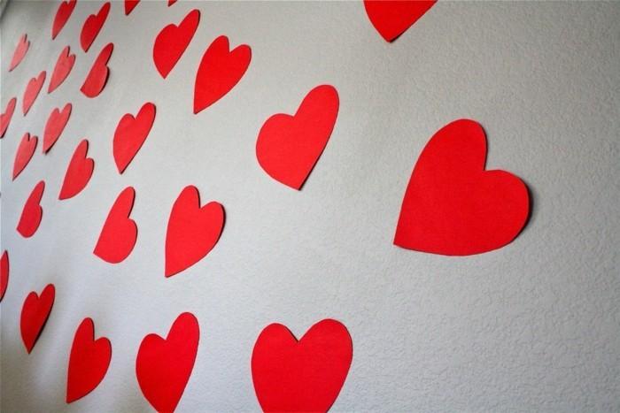 alles liebe zum valentinstag rote herzen wanddeko