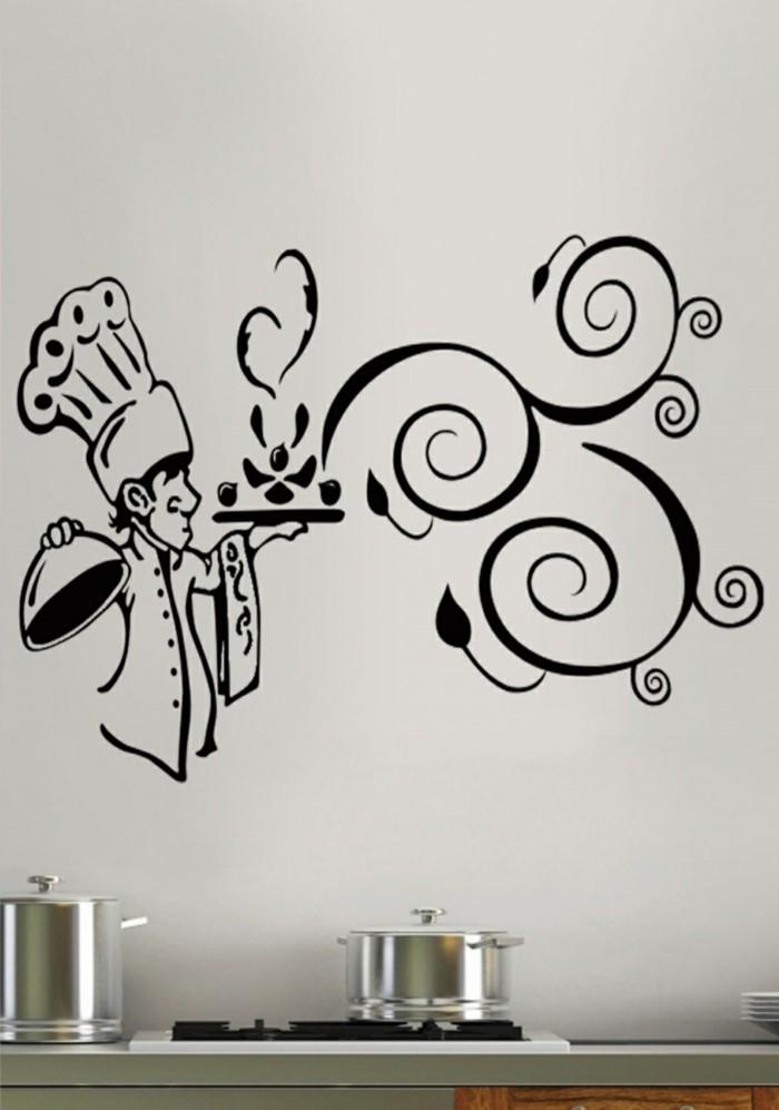 deko ideen küche wanddeko wandsticker wohnideen küche