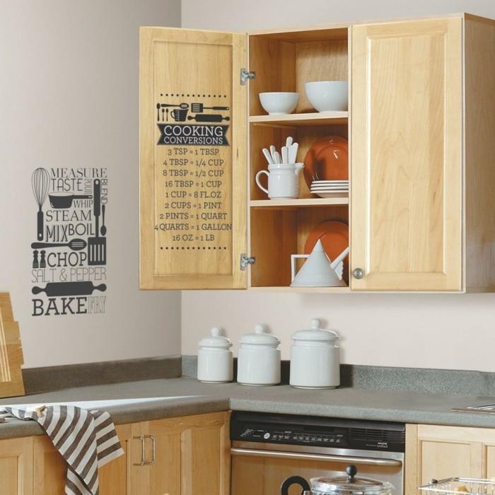 deko ideen küche wanddeko wandsticker