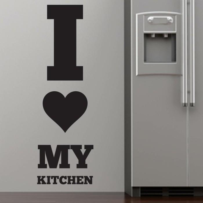 deko ideen küche wandsticker wandtattoo