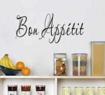 30 Küchen Wandtattoos, die als Inspirationsquelle in der Küche dienen