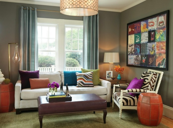 eklektisch einrichten wohnzimmer einrichten ideen