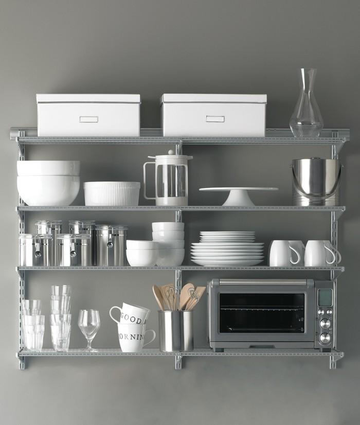 elfa aufbewahrungssysteme wandregale küchenregale stahl
