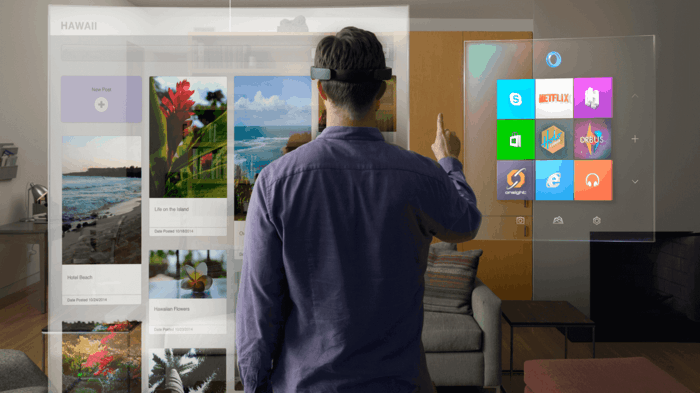 erweiterte realität ar augmented reality app hologramme innovative technologie