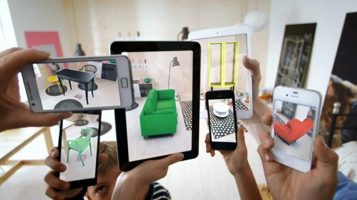 erweiterte realität ar brille agmented reality ikea möbel