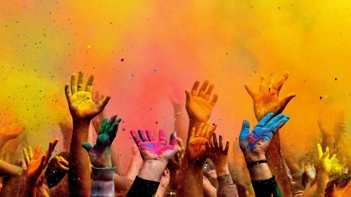 farben festival fest