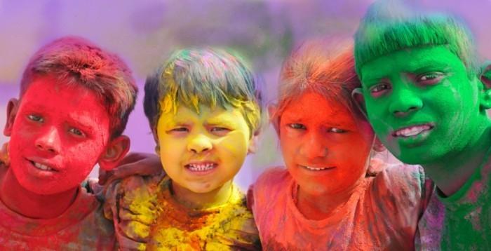 farben festival kinder