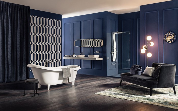freistehende badewanne badezimmer ideen 2