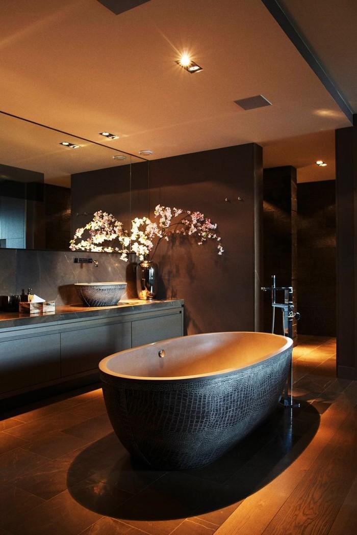 freistehende badewanne badezimmer ideen 14