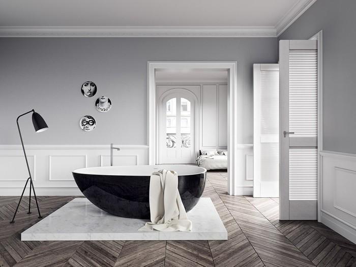 freistehende badewanne badezimmer ideen 15