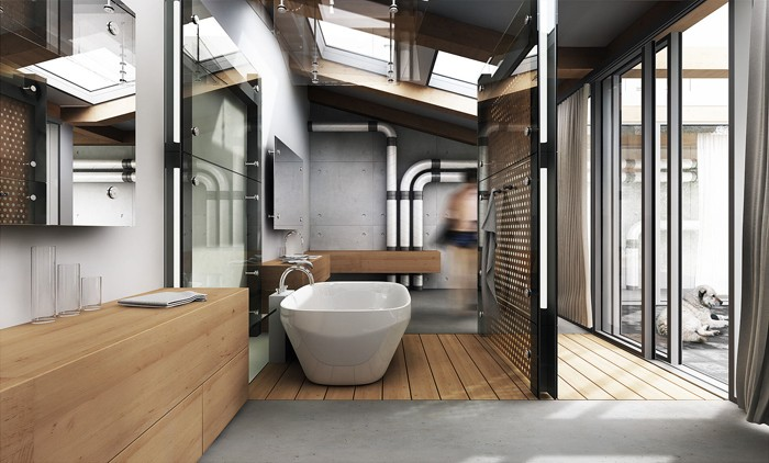 freistehende badewanne badezimmer ideen 18