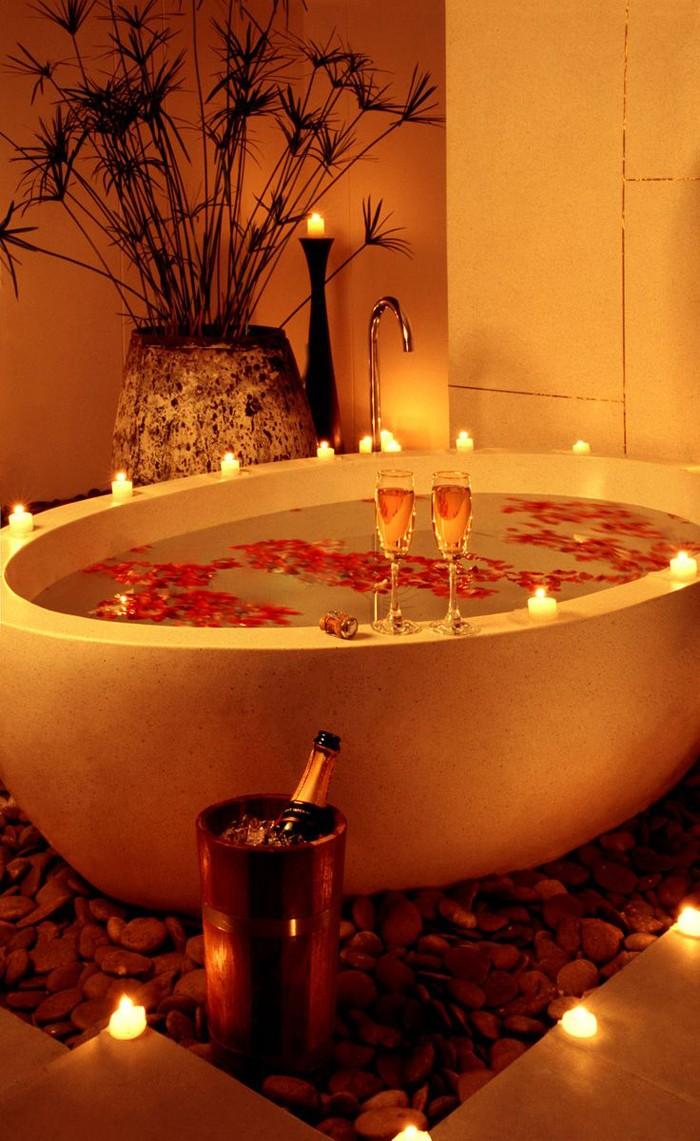 freistehende badewanne badezimmer ideen 19
