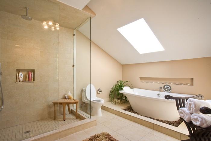 freistehende badewanne badezimmer ideen 22
