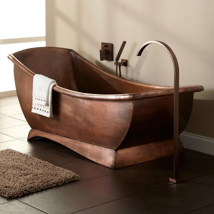 freistehende badewanne badezimmer ideen 23