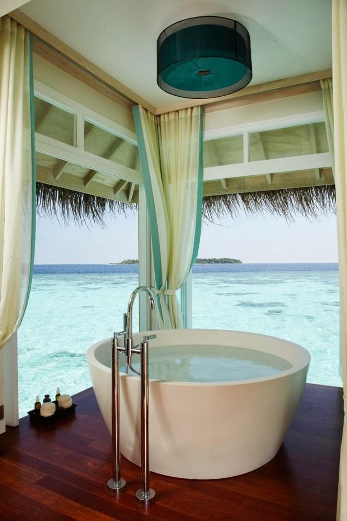 freistehende badewanne badezimmer ideen 9