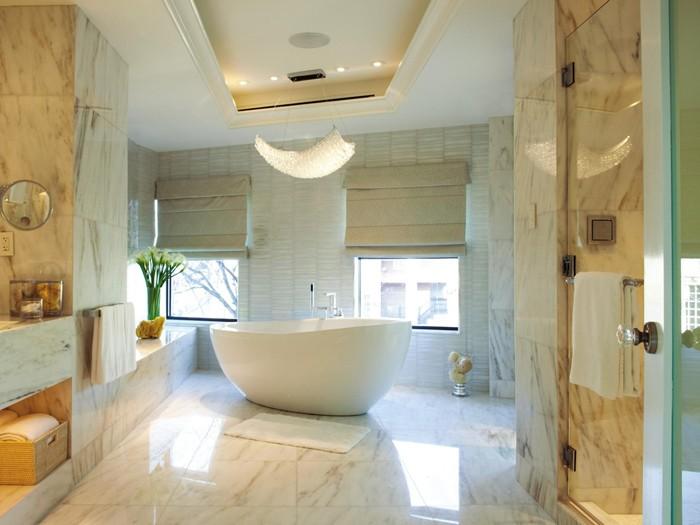 freistehende badewanne badezimmer ideen 11