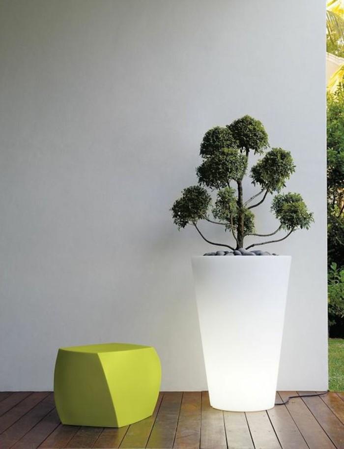 gartenbeleuchtung ideen solar beleuchtung pflanzenbehälter