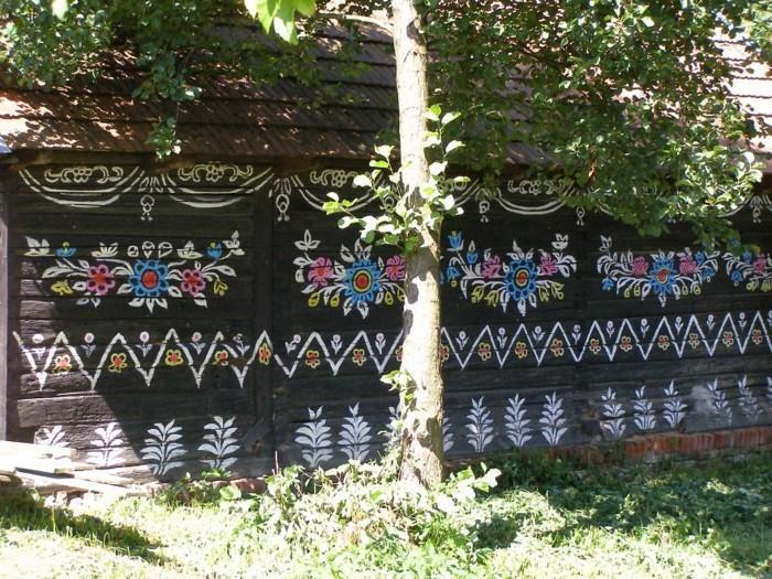 gartenideen zalipie florale muster