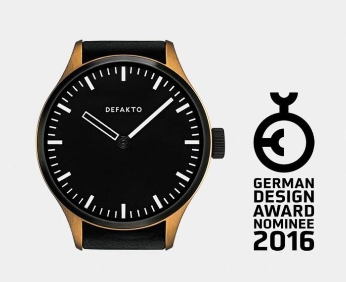 german design award 2016 herrenuhr defakto