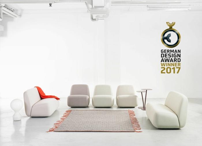german design award 2017 aperi sofa chair läufer keichel