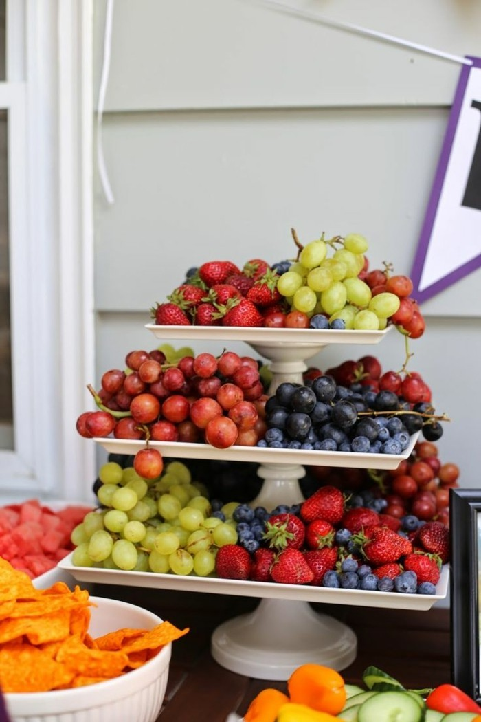 gesunde frühstücksideen party dekoideen essen früchte