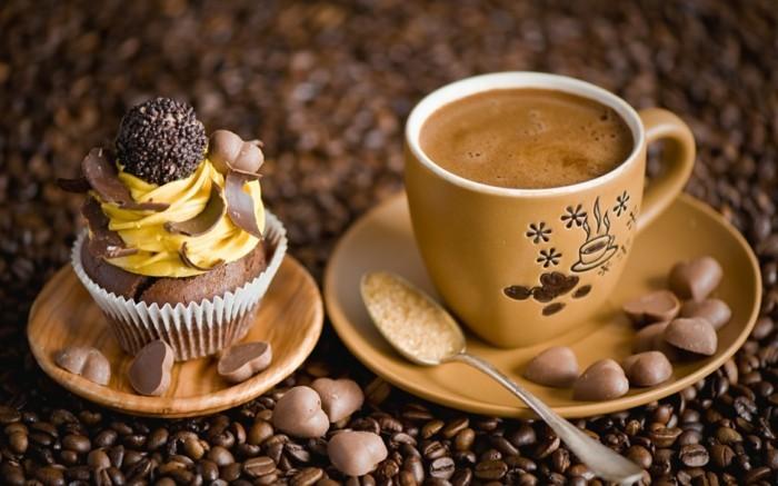 guten morgen kaffee coffee cupcakes schokobonbons